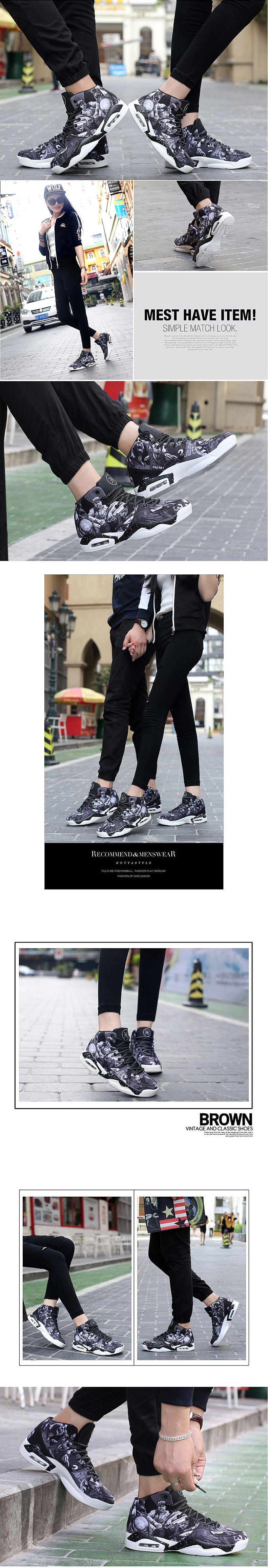 รองเท้าชาย รองเท้าผ้าใบแฟชั่นรองเท้าาบาสเกตบอล