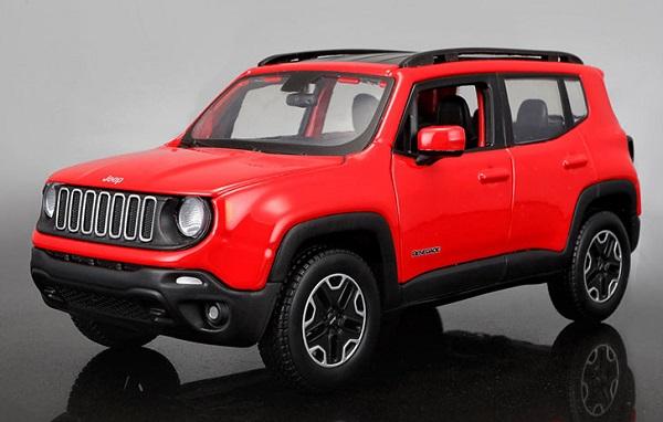 โมเดลรถเหล็ก โมเดลรถยนต์ Jeep Renegade red 1