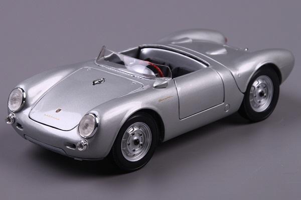 โมเดลรถ โมเดลรถเหล็ก โมเดลรถยนต์ Porsche 550A Spyder silver 1