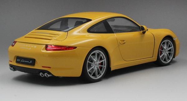 โมเดลรถ โมเดลรถเหล็ก โมเดลรถยนต์ Porsche 911 991 carrera S yellow 2