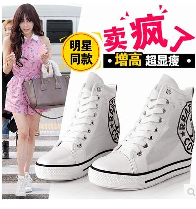 รองเท้าผ้าใบส้นสูง เหมือนแบบ Tiffany snsd 100% งานนำเข้า