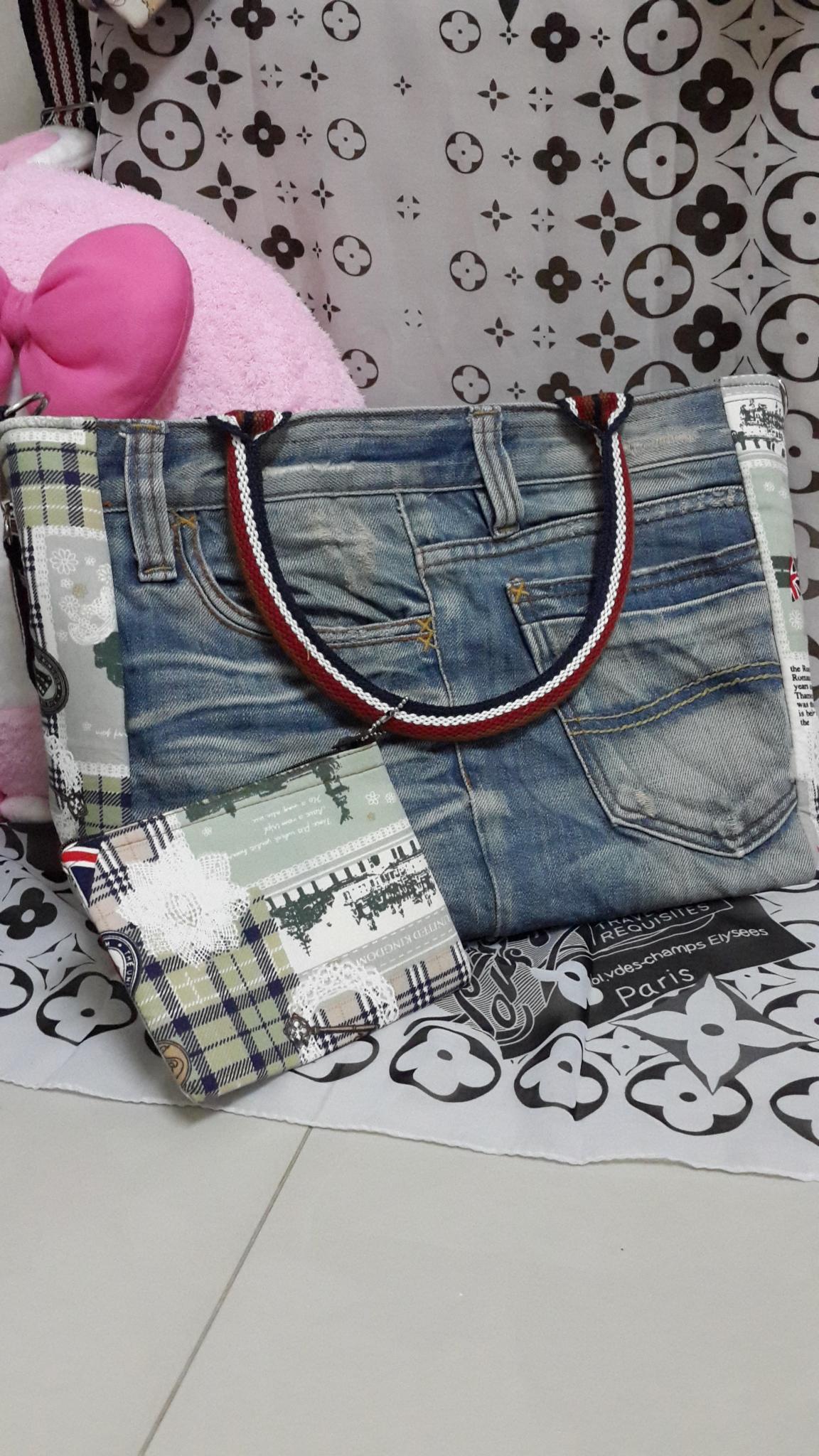 กระเป๋าสะพายไหล่+กระเป๋าใส่เหรียญ น่ารัก