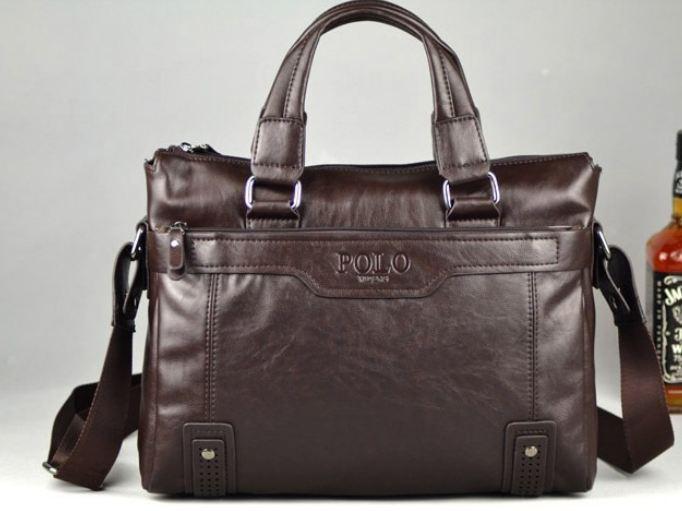 กระเป๋าใส่ Notebook Polo หนังแท้ กระเป๋าสะพายข้าง ใส่เอกสาร นิตรสารเล่มใหญ่ กระเป๋าถือใส่เอกสาร สำหรับผู้บริหาร สีน้ำตาลเข้ม no 996987_1