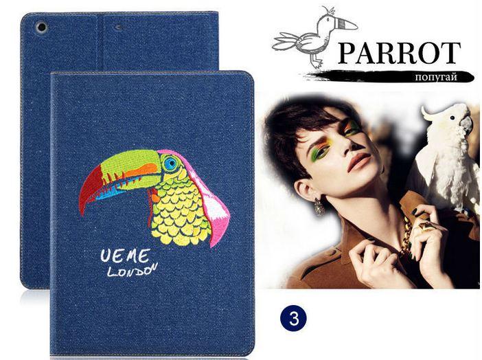 เคส iPad air 1 เคสยีนส์ Denim ปักลายนกแก้ว สีสันสดใส ดีไซน์ จากประเทศ อังกฤษ เคสแบบสวย ๆ จาก London เคสเปิดปิด อัตโนมัติ 396281_2
