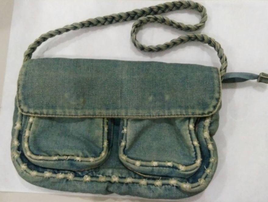 กระเป๋ายีนส์ กระเป๋าสะพายข้างผู้หญิง แบบวินเทจ เท่ ๆ กระเป๋าสะพายมือสอง แบบสวย ซักได้ usegreen1
