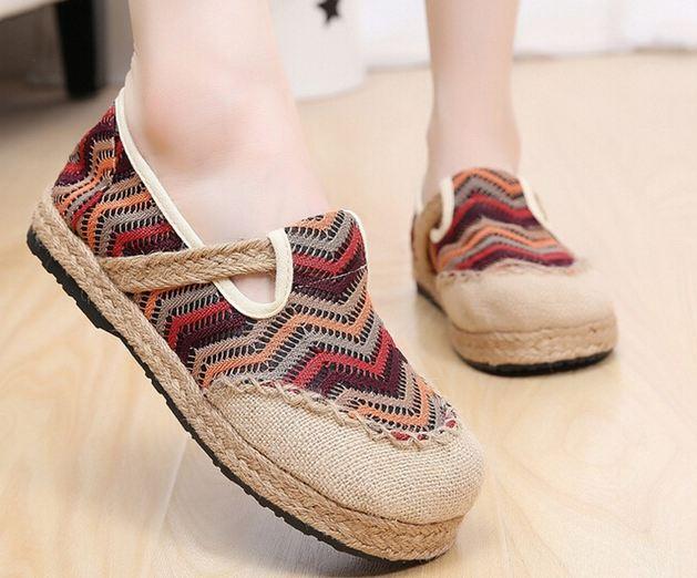รองเท้าหุ้มส้น แบบวัยรุ่น รองเท้าแฟชั่น ผู้หญิง สไตล์วินเทจ ลายซิ๊กแซ็ก สีน้ำตาลเข้ม มีสายคาด รองเท้าใส่เที่ยว น่ารัก สไตล์วัยรุ่น 76133_2