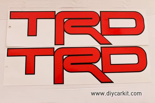 สติ๊กเกอร์ TRD สีแดง