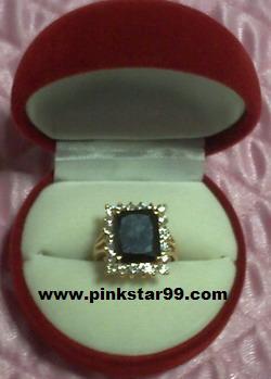 S01 แหวนนิลล้อมเพชร (สินค้าจากร้านเดิม Pinkstar99.weloveshopping)