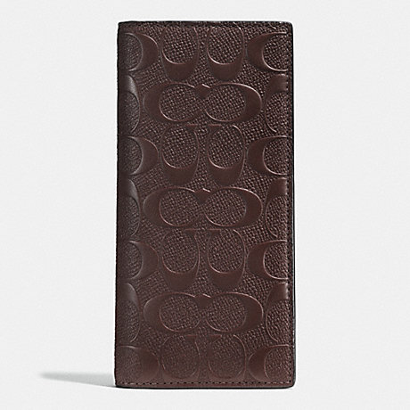กระเป๋าสตางค์ผู้ชาย COACH BREAST POCKET WALLET IN SIGNATURE CROSSGRAIN LEATHER F75365 : MAHOGANY