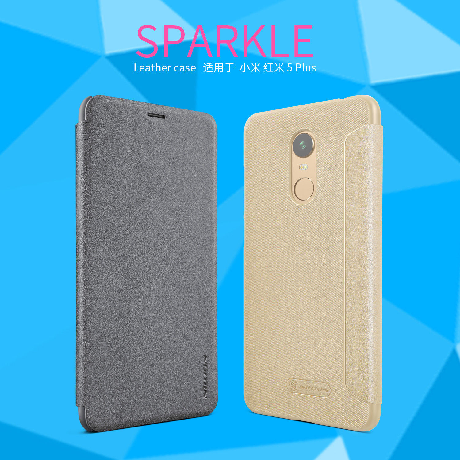 NILLKIN เคส Xiaomi Redmi 5 Plus รุ่น Sparkle Leather Case แท้ !!