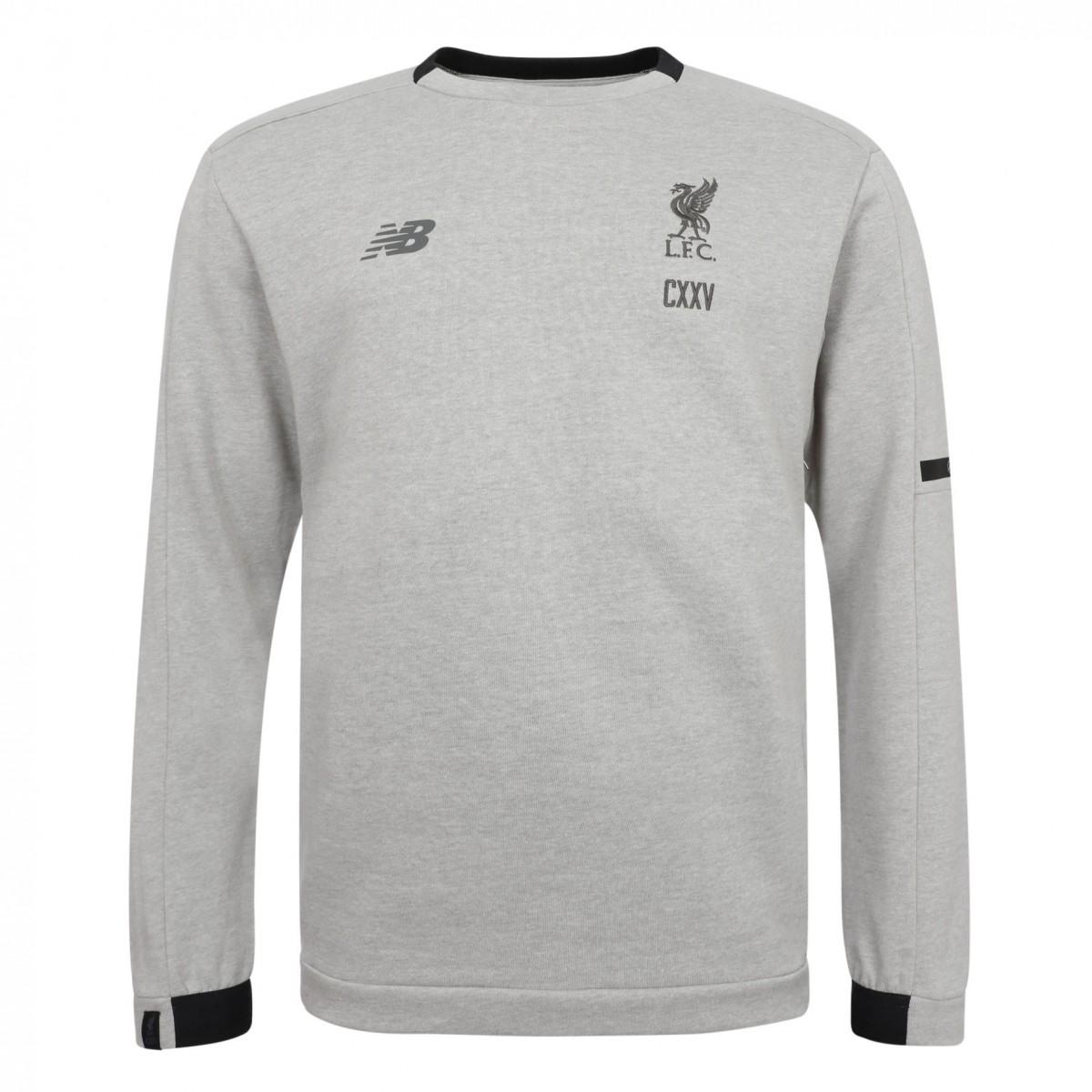 เสื้อสเวตเชิ้ตนิวบาลานซ์ลิเวอร์พูล สีเทาของแท้ Sportswear Mens Grey Sweatshirt CXXV 17/18