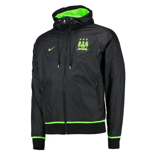 เสื้อฮู้ดแมนเชสเตอร์ ซิตี้ Manchester City Authentic Windrunner - Black ของแท้ 100%