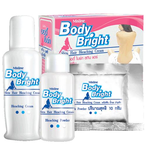 *พร้อมส่ง* Mistine Body Bright Skin Hair Bleaching Cream ครีมเปลี่ยนสีขน มิสทีน บอดี้ ไบรท์ ให้ผิวดูใสขึ้นทันที