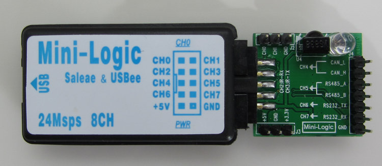 Saleae/USBee AX USB Logic Anlyzer with Infrared, RS485, RS232, CAN bus Interface