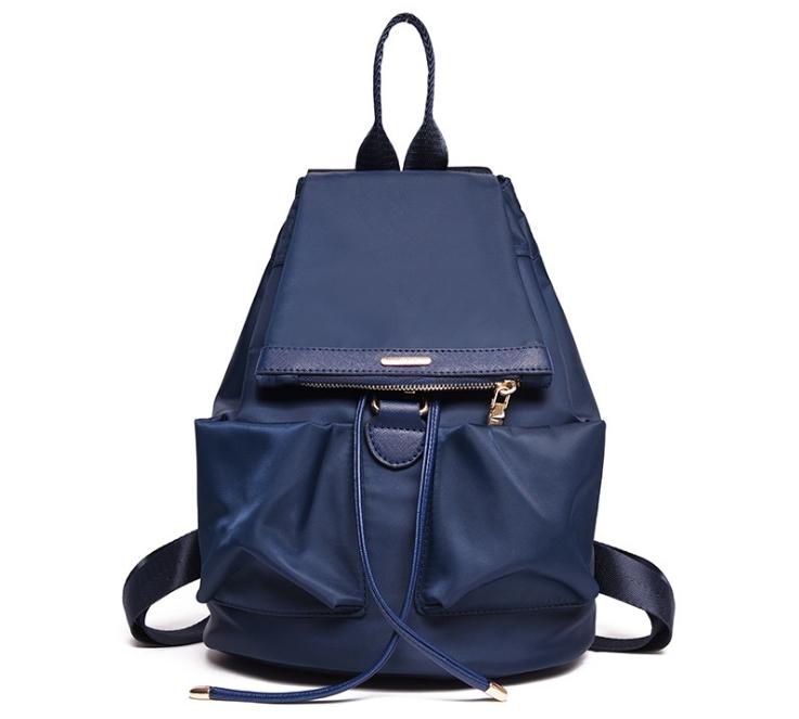 [ ลดราคา ] - กระเป๋าเป้แฟชั่น สไตล์เกาหลี สีน้ำเงิน สุดชิค น้ำหนักเบา พกพาง่าย ดีไซน์สวยเก๋ ไม่ซ้ำใคร เหมาะกับสาว ๆ ที่เน้นความคล่องตัว