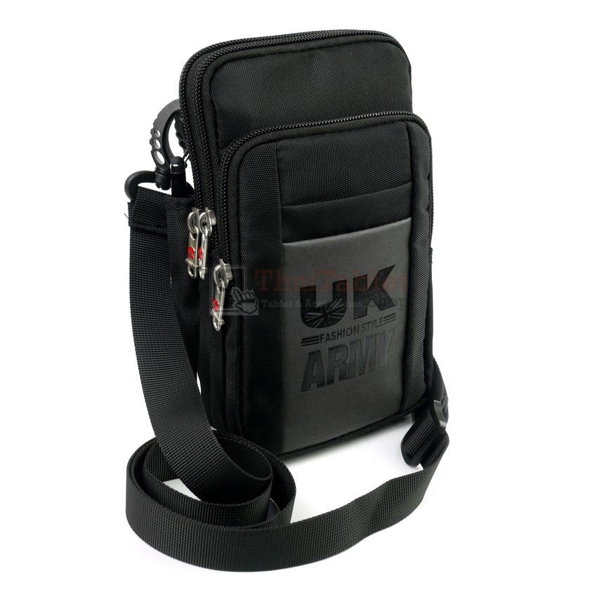 DAKAR กระเป๋าหนังคาดเอว ใบใหญ่ แนวตั้ง ใส่มือถือขนาด 5 - 6.5 นิ้ว (A03)