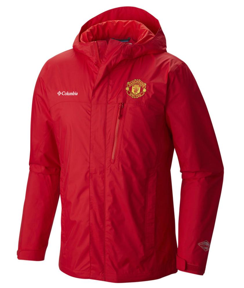 เสื้อแจ็คเก็ตแมนเชสเตอร์ ยูไนเต็ด Columbia Pouring Adventure Jacket สีแดงของแท้