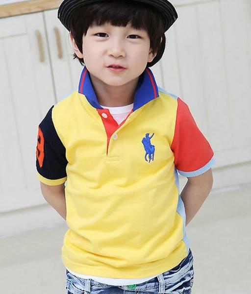 เสื้อโปโลเด็กชายสีเหลือง