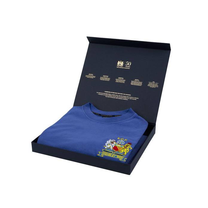 เสื้อเรทโรย้อนยุคแมนเชสเตอร์ ยูไนเต็ด ที่ระลึกครบรอบ 50 ปี แชมป์ยูโรเปี้ยนคัพ 1968 พร้อมกล่องของขวัญของแท้