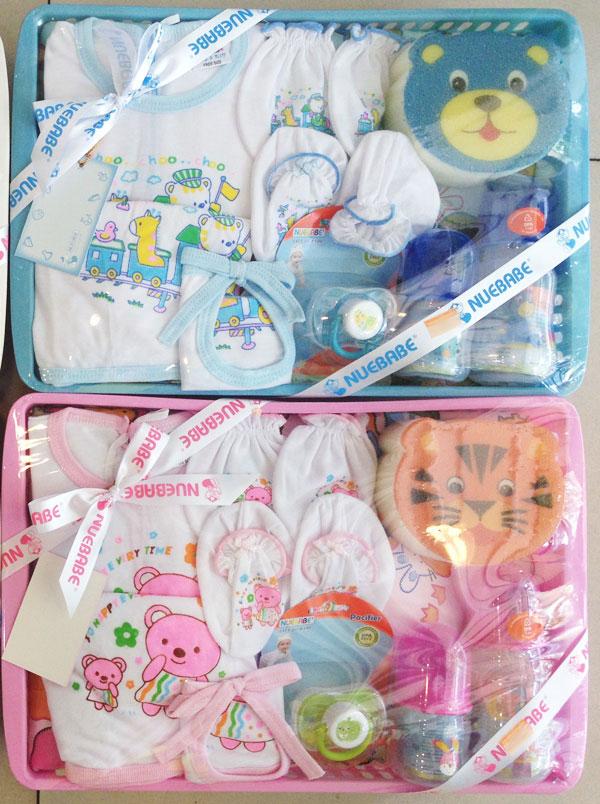 ชุดกิ๊ฟท์เซต ของใช้เด็ก+เสื้อผ้าเด็กอ่อน ยี่ห้อ Nuebabe