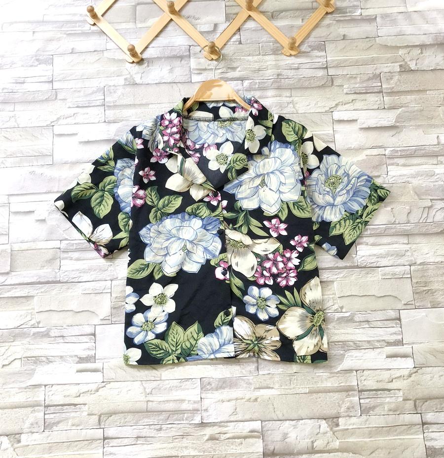 ส่ง:เสื้อปกฮาวายลายดอกผ้าใส่พริ้วๆ/อก38