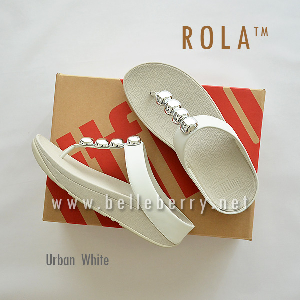 ** NEW ** FitFlop : ROLA : Urban White : Size US 7 / EU 38