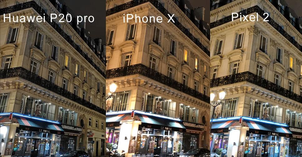 เปรียบเทียบภาพถ่ายจาก Huawei P20 Pro vs Apple iPhone X vs