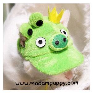 หมวกน้องหมาแฟนซี หมูเขียว พร้อมส่ง