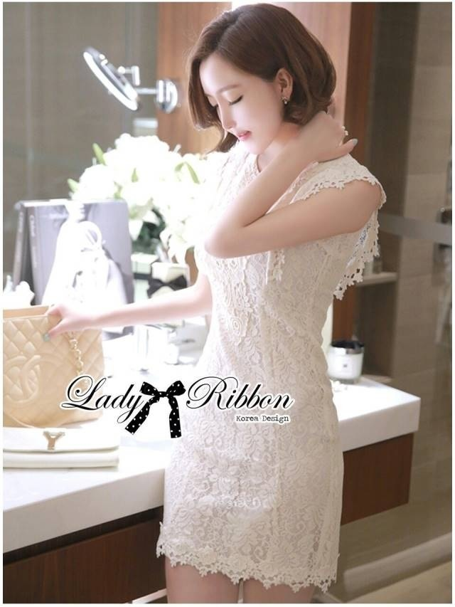 Lady Ribbon's Made Lady Jessica Classic Lace Dress in Ivory