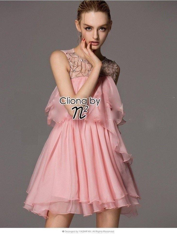 Cliona Made ,Glitter Net Layer Swing Dress