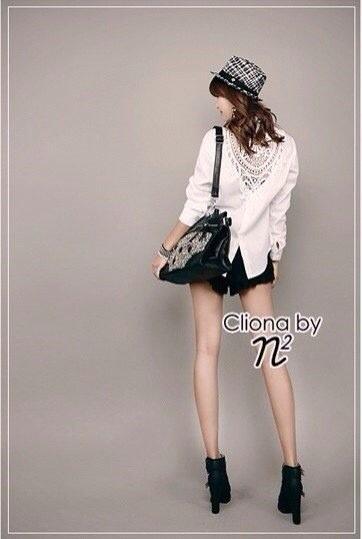 Cliona Made,Sandra love White Embroidery Blouse