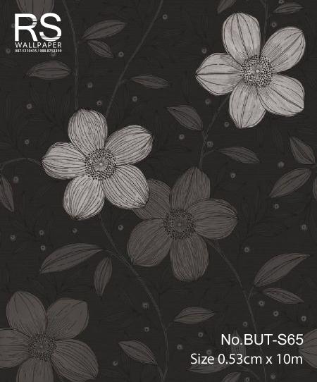 วอลเปเปอร์ลายดอกไม้ใบไม้ BUT-S65