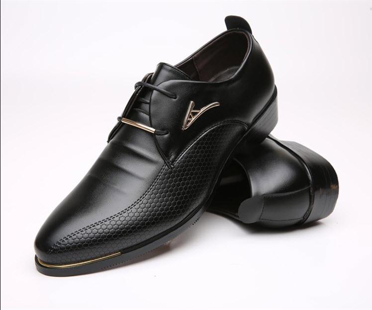 พร้อมส่ง รองเท้าคัชชู ผู้ชาย หนัง PU สีดำ ใส่ทำงาน แบบสวม