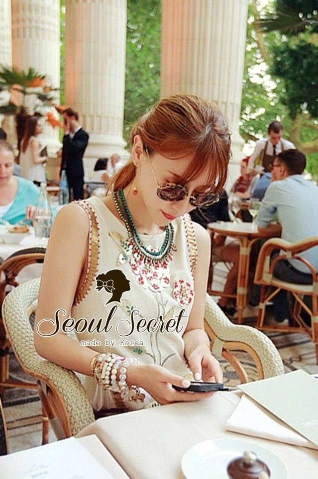 Flower & Leaf Glitter and Colors Jewel Furnish Premium Dress by Seoul Secret