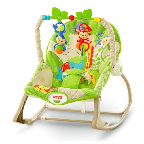 เปลโยก fisher price infant to toodle rocker green monkey ส่งฟรี พัสดุไปรษณีย์