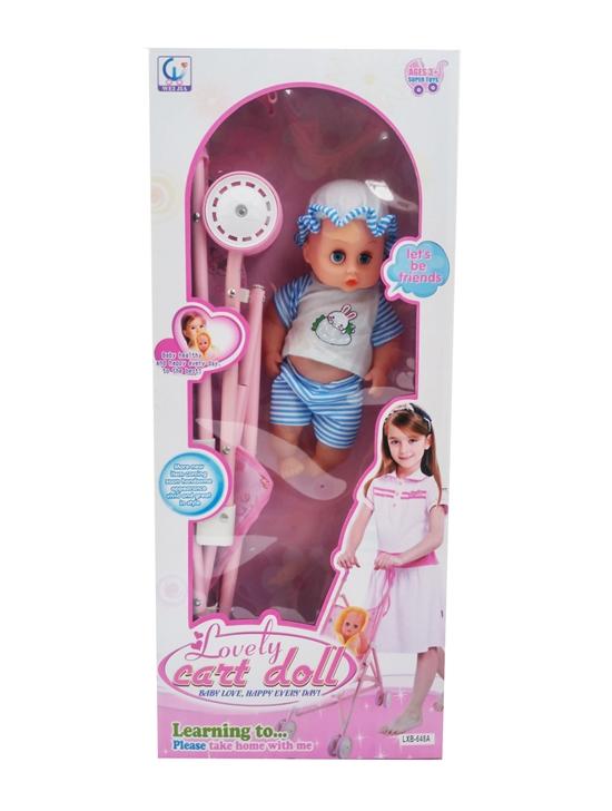 รถเข็นตุ๊กตา พร้อมตุ๊กตาเด็กทารก
