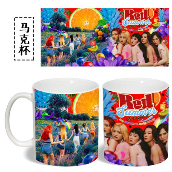 แก้วมัค Red Velvet The Red Summer เลือกสี (ขาว,ดำ)
