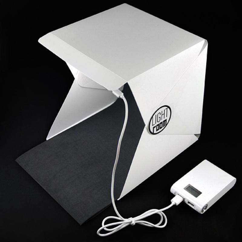 Light Room Mini Portable Foldable Photography Studio with LED Light กล่องถ่ายภาพขนาดเล็ก พับได้ พร้อมไฟ LED ขนาด 22.6x23x24 cm.