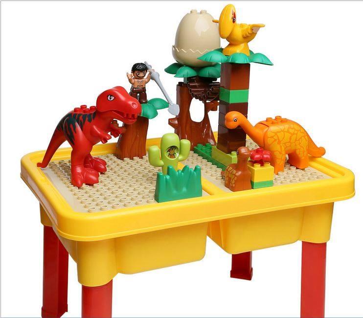 โต๊ะกิจกรรมเลโก้บล็อกต่อไดโนเสาร์ /สามารถเปลี่ยนเป็นโต๊ะเขียนได้ด้วย
