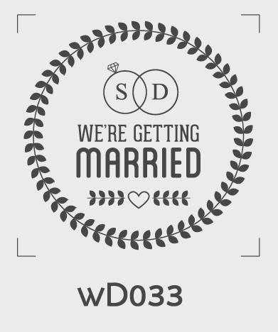 ตราปั๊มงานแต่ง WD033