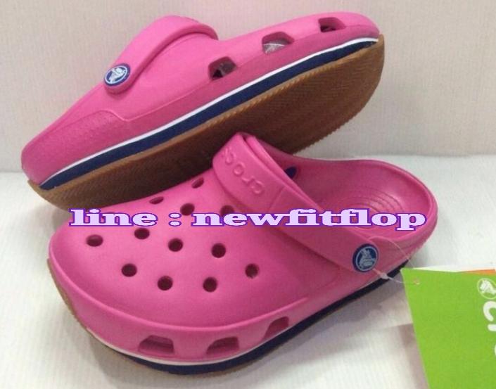 รองเท้า crocs retro clog รุ่นเรโทร สีชมพูเข้ม