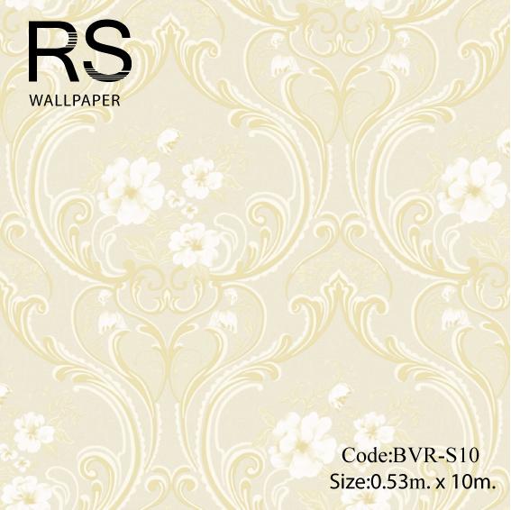 วอลเปเปอร์ลายวินเทจ ดอกไม้ BVR-S10
