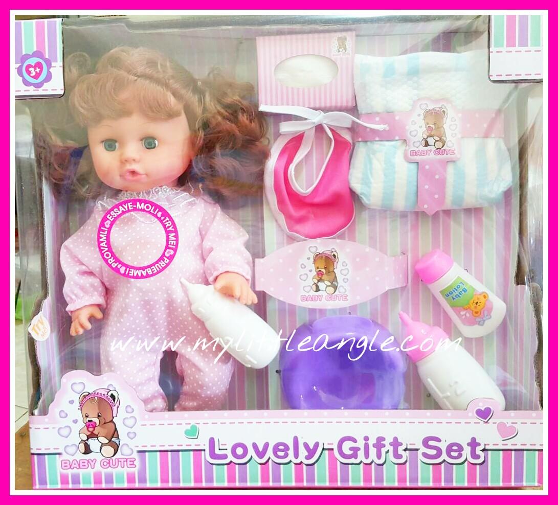 พร้อมส่งตุ๊กตาดูดนม ฉี่ได้ด้วย พร้อมอุปกรณ์ ส่งฟรี