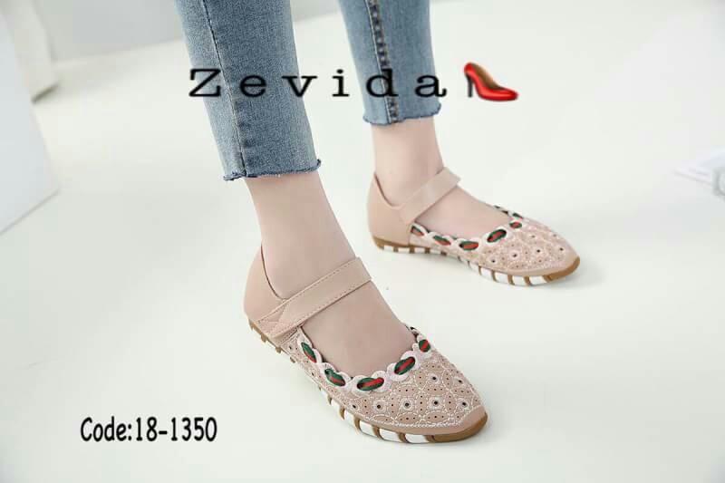 รองเท้าคัทชูเพื่อสุขภาพ ส้นเตี้ยมีสายคาดด้านหน้า น่ารักมาก