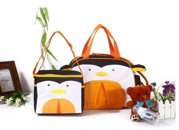 กระเป๋าสัมภาระคุณแม่ลาย skip hop ลายแพนกวิน