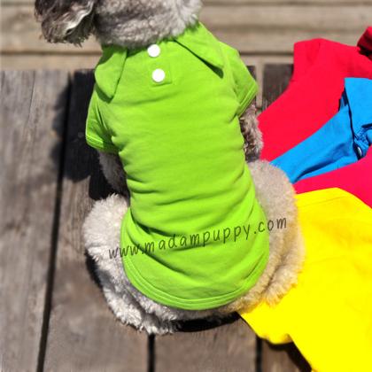 เสื้อโปโลสุนัข สีเขียวสด (พร้อมส่ง)