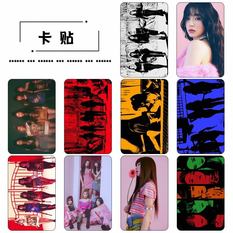 การ์ด PVC เซต 10 ใบ - Red Velvet