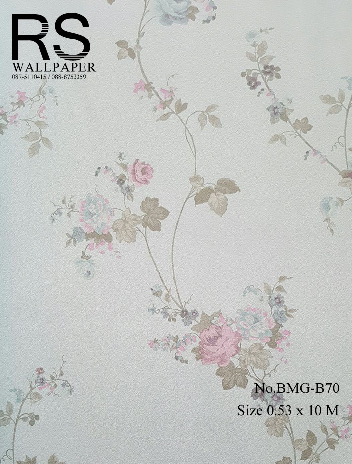 วอลเปเปอร์ลายดอกไม้ BMG-B70