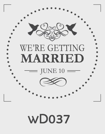 ตราปั๊มงานแต่ง WD037
