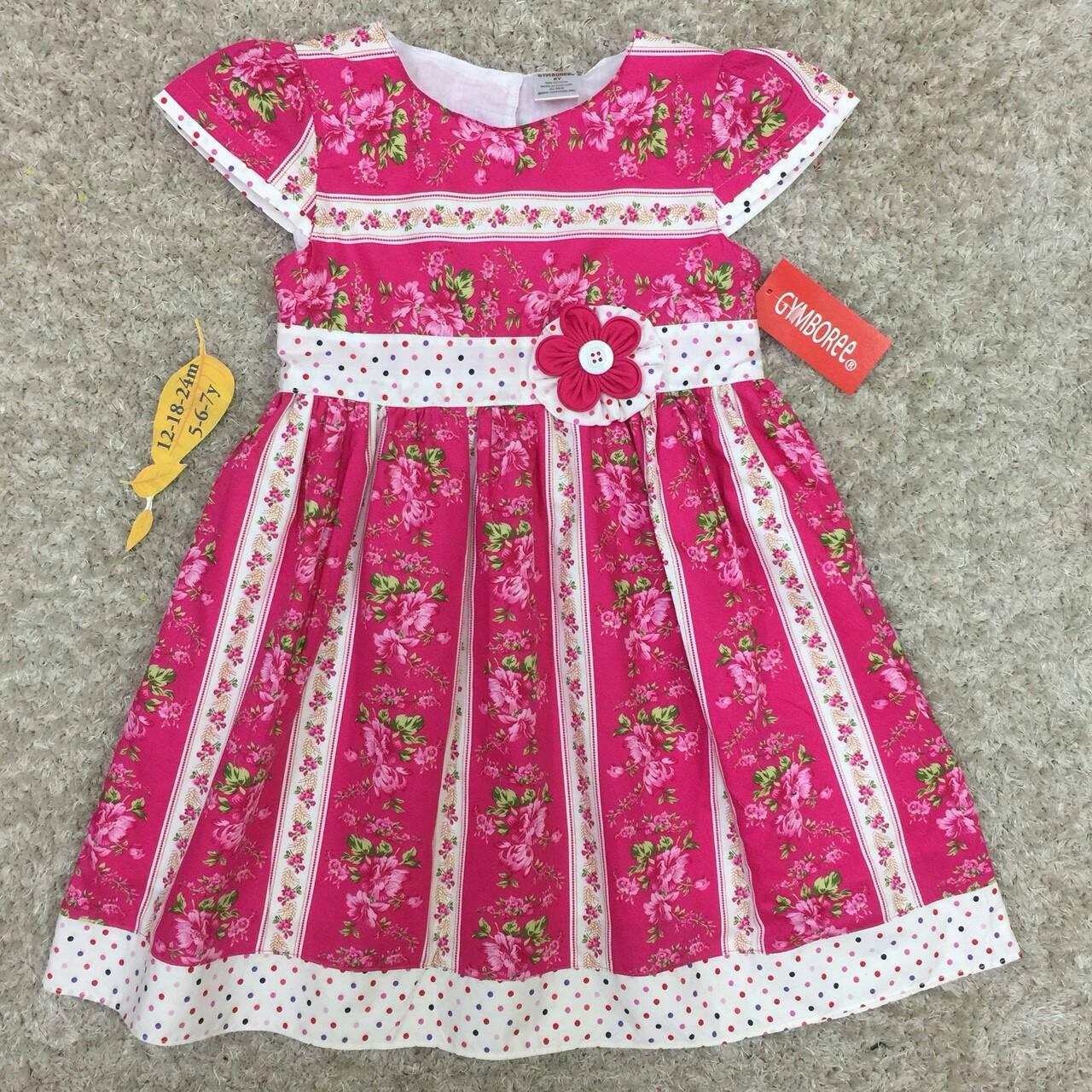 hเสื้อผ้าเด็ก 5-7ปี size 5Y-6Y-7Y ลายดอกไม้ สีชมพู แต่งด้วยดอกไม้ผ้า handmade